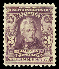 Scott 302 1903 3c Purple Jackson Regular Issue Mint F-VF OG LH Cat $55