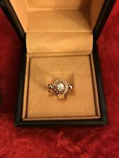 Authentic Bvlgari 18k Flip Ring - Rose Gold - Diamond - Size 5.5