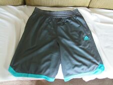 ADIDAS DOUBLE or TRIPLE UP MENs MESH SHORTS. NEW-NWT. sz-LARGE. GRAY/GREEN. POLY