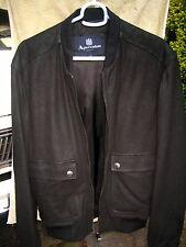 NWTs Men's Aquascutum London leather Bomber Harrington type jacket made in Italy