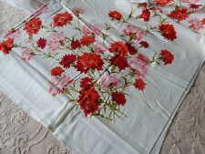 Vintage Simtex Tablecloth NEW UNUSED Pink Chrysanthemum & Napkins
