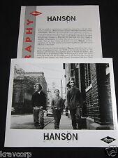 Hanson '3 Car Garage' 1998 Press Kit—Photo