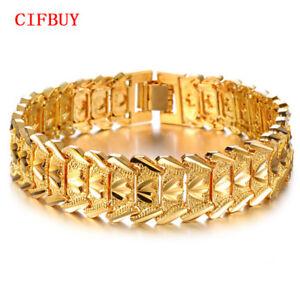 Schmuck Luxus Goldfarben Armband Armbander Breite 17mm Attraktive Manner Ketten