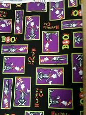 Dr seuss halloween cat in the hat fabric fat quarter free postage