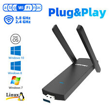 1200Mbps Dual Band Wireless WIFI Adapter USB 3.0 2.4/5GHZ For Desktop Laptop PC