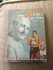 Science Fiction Novel Analog Fact Fiction Occasion For Disaster Mark Phillips