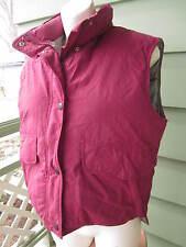REI 100% GOOSE DOWN WINTER VEST Jacket Coat Women's Size 10 CRANBERRY COLOR