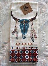 Southwestern Zig Zag Skull Tea Towel Southwest At Heart Skull Pattern Kay Dee