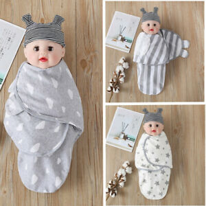 RC6# 0-3 Months Floral Cotton NewBorn Baby Swaddle Blanket Wrap Sleeping Bag