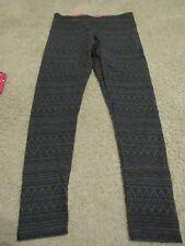 b52cee3336ebf SO, JUNIOR'S Gray/Black Cotton Bl High Waist Geometric Leggings, Size L