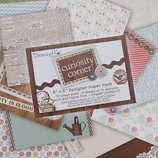 BNWOT - 12 Sheets of 6x6 Scrapbook Paper - Curiosity Corner