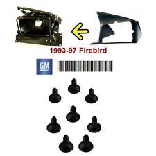 1993-1997 Firebird Formula Trans Am Headlight Bezel mounting screw set BLACK GM