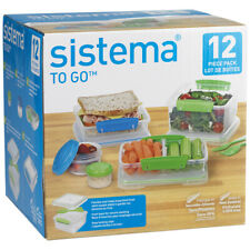 SISTEMA 12 PIECE LUNCH FOOD CONTAINER SET 199 - NEW