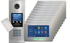 DigiOpen 10-Apartment Video Door Entry System ALECTO IR monitors