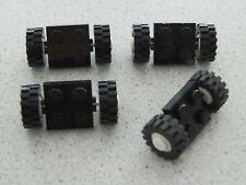 Lego 122c02assy2 # 4x Achse Achsen 2x2 Schwarz / weiß 6953 9354