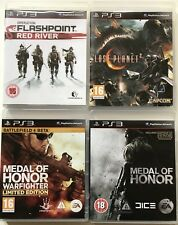 PS3 Game Bundle Medal Of Honor+Warfighter+Flashpoint Red River+Lost Planet 2-170