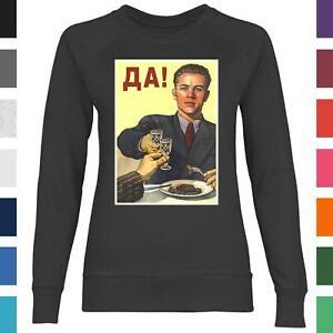 Sowjetunion Propaganda Poster Alkohol Vodka USSR CCCP Russland Damen Sweatshirt