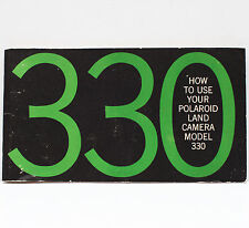 Vintage Polaroid 330 Instant Film Land Camera Manual Instructions Guide 1969