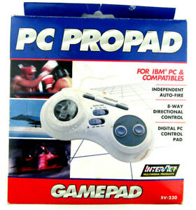 PC ProPad SV-230 Gamepad Controller IBM PC + More