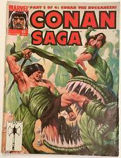 CONAN SAGA #43 -- BARBARIAN ADVENTURES -- MARVEL COMICS MAGAZINE 1990