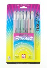 Sakura 37903 Gelly Roll Stardust Bold Galaxy Set of 6 Pens Drawing Art Craft NEW