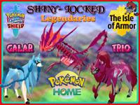 ZACIAN ZAMAZENTA ETERNATUS ✨Shiny Locked Bundle✨Sword Shield Pokemon Home IMPORT