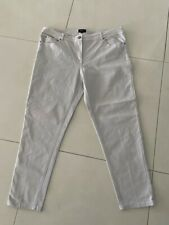 Ladies Gordon Smith Silver Grey Straight Leg Stretch Cotton Poly Jeans Size 18