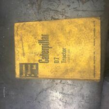 CAT CATERPILLAR D7 TRACTOR SCRAPER REFERENCE MANUAL SERVICEMEN'S