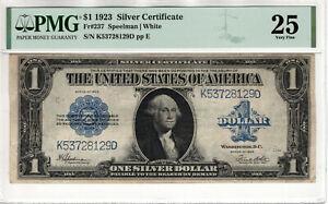 1923 $1 SILVER CERTIFICATE NOTE FR.237 SPEELMAN WHITE PMG VERY FINE VF 25 (129D)