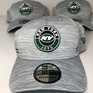 New Era 39THIRTY NFL New Hat Lot Of 3 New York Jets Gray Dad Hats Size M/L