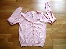 Ladies pale peach cardigan jumper size 14 lightweight cotton worn once ex cond v