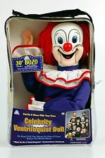 BOZO THE CLOWN VENTRILOQUIST DUMMY DOLL PUPPET! NEW!