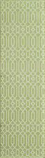 """ALHAMBRA INDOOR OUTDOOR GEOMETRIC DESIGN RUG - GREEN - 2'3"""" x 7'6"""" RUNNER"""