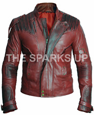Star Lord Chris Pratt Guardian Of The Galaxy Vol 2 Mens Leather Jacket -BIG SALE