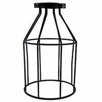 Vintage Iron Metal Lamp Shade Ceiling Pendant Light Cage Bulb Guard Black