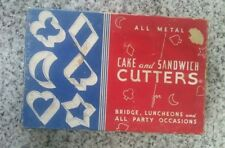 vintage cake and sandwich metal cookie cutters
