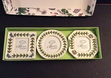 PORTMEIRION BOTANIC GARDEN SET OF 3 MINI CERAMIC FRAMES