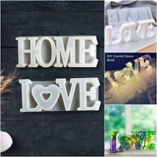 DIY Crystal Resin Craft Silicone Mold HOME LOVE Shape Mould For Cake Chocolate