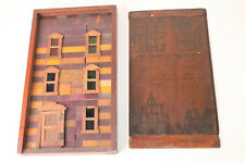 ANTIQUE BUILDING BLOCKS REAL WINDOWS FRAMES STAINED GLASS KINSEY MFG
