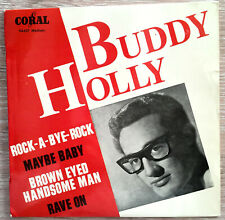 BUDDY HOLLY ROCK A BYE ROCK FRENCH EP CORAL 94607