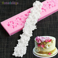 Pearls Beads Silicone Fondant Cake Cupcake Mold Border Sugar Paste Diy Mould