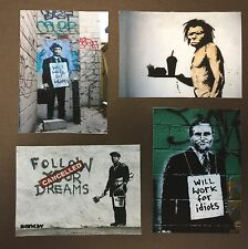 Banksy Work For Idiots Canvas ACEO Prints Street Art Graffiti Follow Your Dreams
