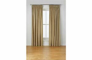 "Heart of House Oatmeal Moreton Twill Pencil Pleat Curtains 116x 137cm 46""x 54"" B"