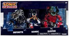 "Tomy Sega Sonic The Hedgehog 3"" Figure 3PK SONIC ZAVOK INFINITE BNIB *New* 2019"