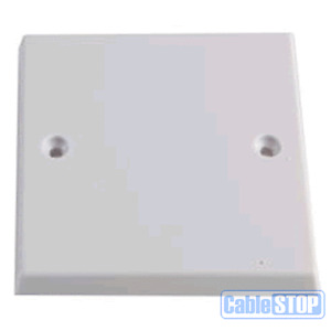 WHITE BLANK SINGLE 1 GANG TYPE FACE WALL PLATE LIGHT PLUG SWITCH BLANKING COVER
