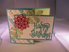 Happy Birthday Flower Flourish Card Kit 4 with Some Stampin Up