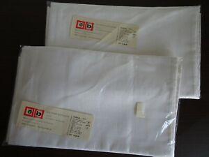 DDR: 2 Tischdecken weiß 100/160cm VEB VOWETEX Plauen in original Verpackung