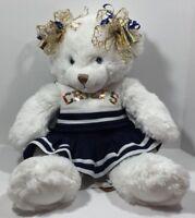 First & Main Soft Body Beanie Butt Teddy Bear Chiefs Cheerleader White 1786 Dena