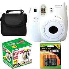 New Fujifilm Instax Mini 8 Instant Film Case Polaroid Camera Bundle Set White