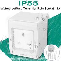 IP55 13A Single Plug Socket Switched OOutdoor Power Damp Proof Waterproof